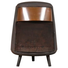 "Ulefos Cast Iron Wood Burning Stove ""Nr 105"" Norway, 1950"