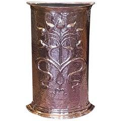 Late 19th Century Arts and Crafts Copper Umbrella Stand