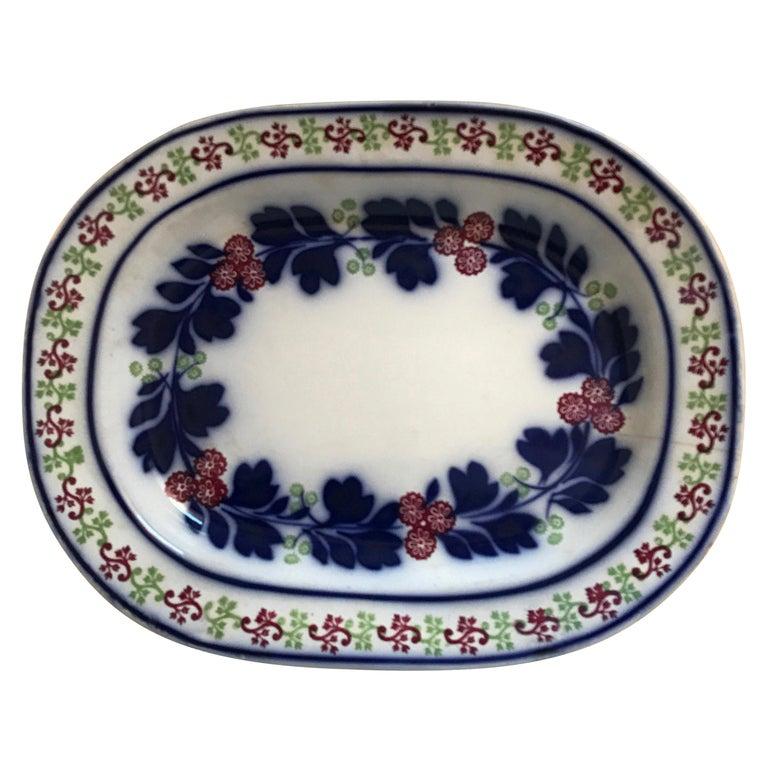 Very Large 19th Century Ironstone Ceramic Platter