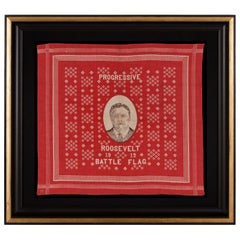 Roosevelt Battle Flag Kerchief, Made for the 1912 Presidential Campaign