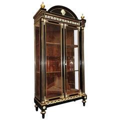 Big Bookcase Vitrine Napoleon III Boulle style, France, 1870