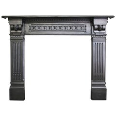 The Homeruler, a Restored Antique Mid-Victorian Cast Iron Fire Surround