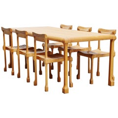 Ruud Jan Kokke Dining Table Set, Holland, 1990