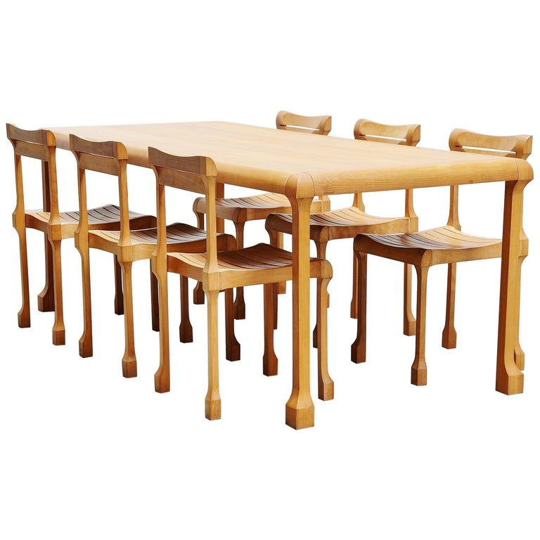 Ruud Jan Kokke Dining Table Set, Holland, 1990