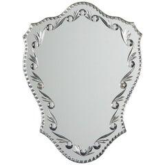 French Midcentury Venetian Glass Mirror