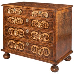 William and Mary Oyster Venered Chest of Drawers