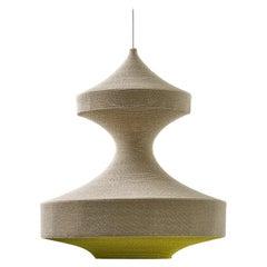 Monika Ø80 Pendant Light, Hand Crocheted in 100% Mercerized Egyptian Cotton