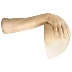 American Modern Richard Etts Plaster Hands Table Lamp