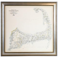 Framed Map of Cape Cod, Massachusetts