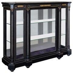 19th Century French Ebonized Side Cabinet