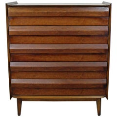 Midcentury Danish Modern Lane First Edition Walnut Tall Chest or Dresser