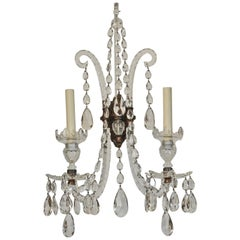 Set of Four 19th Century Georgian Crystal Wall Sconces