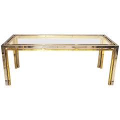 Romeo Rega Chrome and Brass Console Table