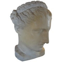 French Neoclassical Style Plaster Bust