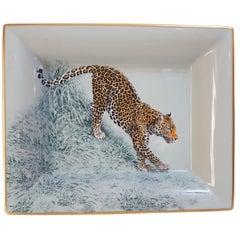 """Hermès Porcelain """"Carnets d'Equateur"""" Vide Poche Charge Tray, France, Modern"""