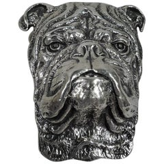 Antique Gorham Sterling Silver Paperclip with Sweet Beast Bulldog
