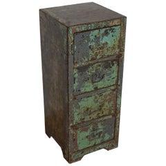 Vintage English Metal Filing Cabinet