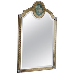 Venetian Etched Gold and Silver Mirror
