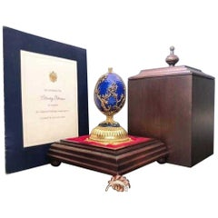Imperial Faberge 24-Karat Gold over Sterling Silver Musical Egg