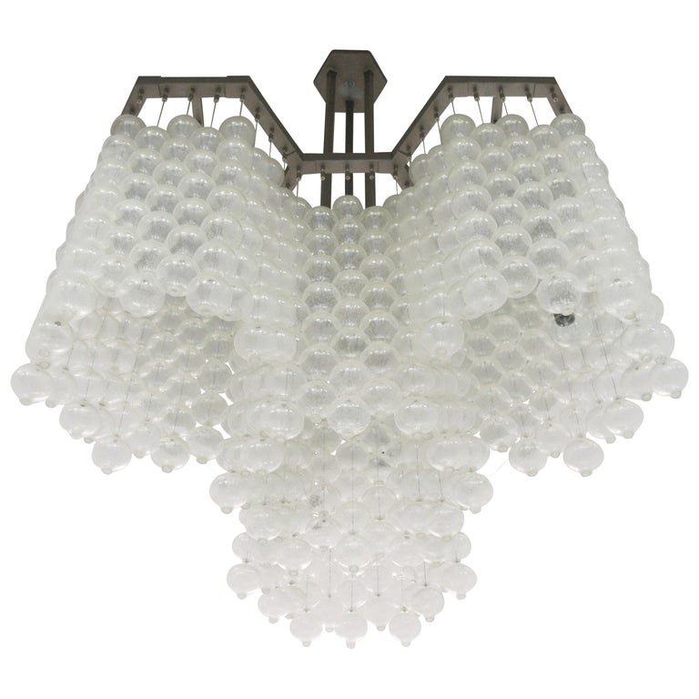 Large Tulipan Chandelier by Kalmar For Sale