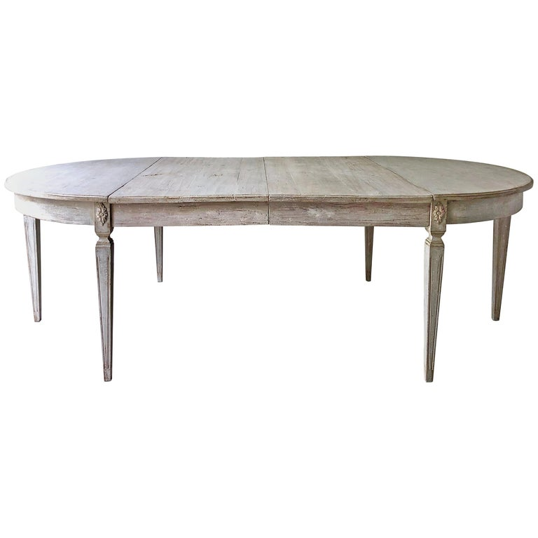 Early 19th Century Swedish Period Gustavian Extending Table