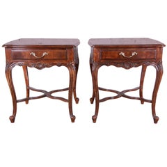 Drexel Heritage French Parquetry End Tables, Pair