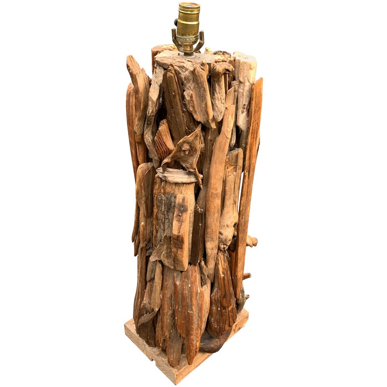 Large 1950s Driftwood Table Lamp For Sale