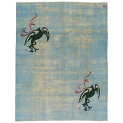 Vintage Persian Amoghli Mashad Carpet