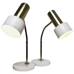 Pair of Mid-century Modern Desk or Table Lamps, Bedside Lights, Germany, 1970s
