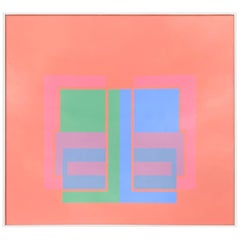 """""""Denny"""", Red, Blue and Green Cubes, by Eduard Maurice Fitzgerald 1970"""