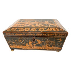 Early 19th Century Regency Penwork Box