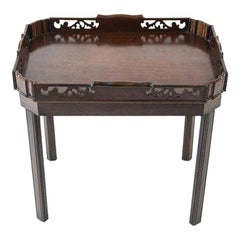 English Georgian Mahogany Butler Tray Table, circa 1800