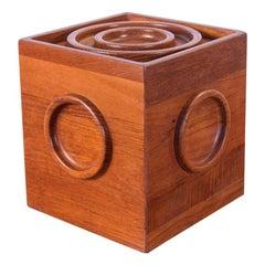 Jens Quistgaard Bullseye Cube Ice Bucket with Tongs