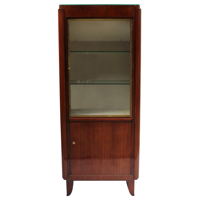 Fine French Art Deco Rosewood Vitrine by Maxime Old For Sale
