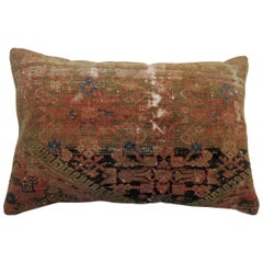 Antique Persian Malayer Rug Pillow
