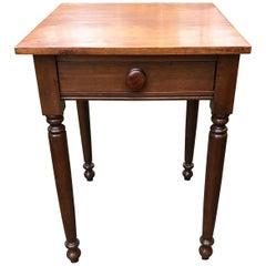 American Sheraton One Drawer Stand in Walnut, circa 1820 Concord, Ma