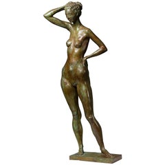 Bronze Sculpture of a Naked Woman