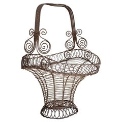 Early 19th Century Regency Period Decorative Wirework Basket