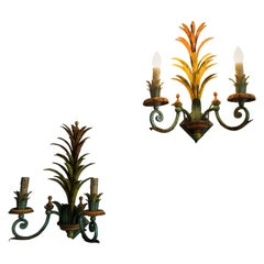 Midcentury Italian Painted Sconces Wall Lights