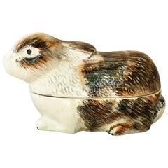 Majolica Rabbit Tureen