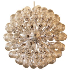 Exceptional Pair of Stunning 120 Light Lightolier Sputnik Chandeliers
