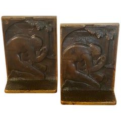 Pair of Art Deco Bronze Bookends in the Style of Paul Manship