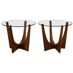 Mid Century Adrian Pearsall Walnut End Tables