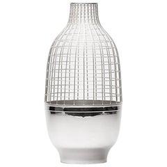 "Jaime Hayon Silver ""Grid"" Vase"