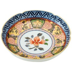 Japanese Contemporary Gilded Ko-Imari Porcelain Dessert Plate, Hand Painted