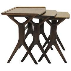 1960s Johannes Andersen Teak Nesting Tables