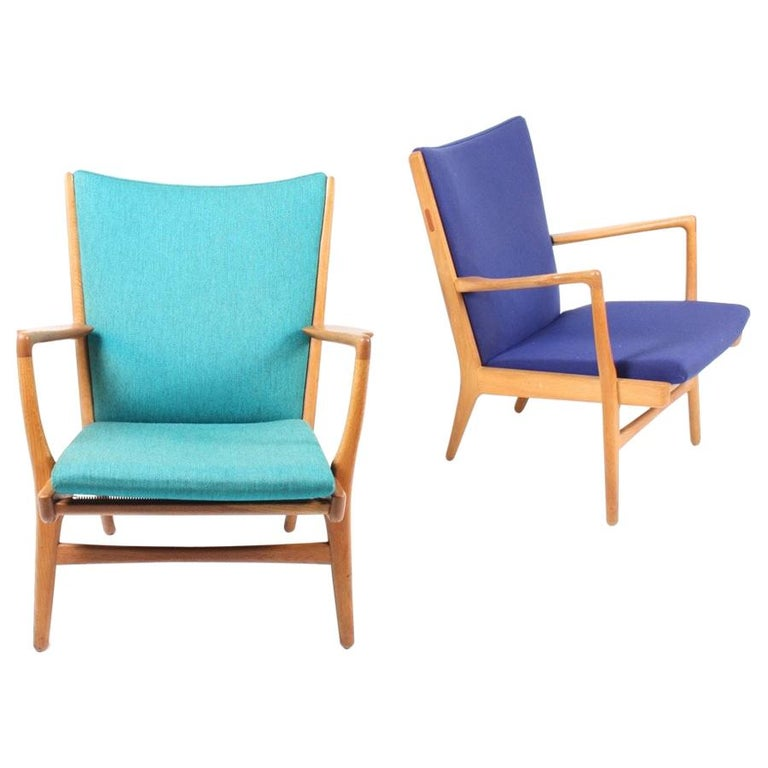 Pair of Lounge Chairs by Wegner