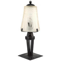 Muller Freres & Fag French Art Deco Table Lamp, Late 1920s