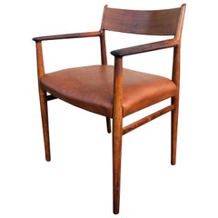 Arne Vodder 418 Armchairs in Rosewood and Aniline Leather, Sibast