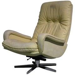 Vintage De Sede S 231 James Bond Swivel Lounge Armchair, 1960s
